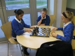 Y6 playing morning chess