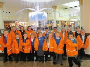 All the children adored Meadowhall's christmas decorations!