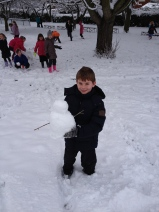 Daniel's snowman!