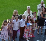 Year 4 receiving their award!