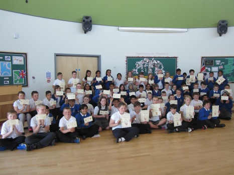 Year 6 with their awards