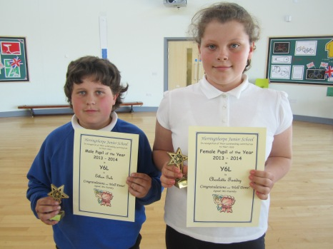Female and Male Pupil of the Year 6L