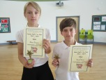 Female and Male Pupil of the Year 6A