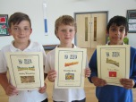 Respect, Friendship and Excellence Award winners 6A