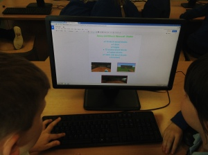 Using Google Drive to present our learning.